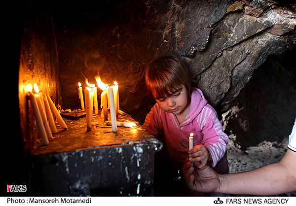 Lighting candles in temples is known to all pagan religions, including Shiism.