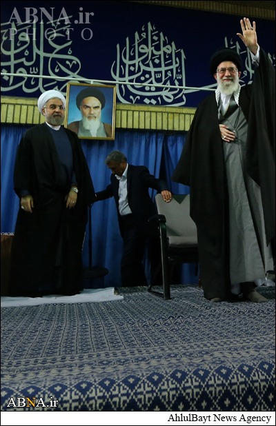The idol Khomeini is present as usual, literally everywhere in Iran you can see a portrait (and even statues) of him. You can expect that from monarchies (the ones Shias love to bash in the Gulf), from secularist tyrants in the middle east and elsewhere, but from an 'Islamic Republic'?!