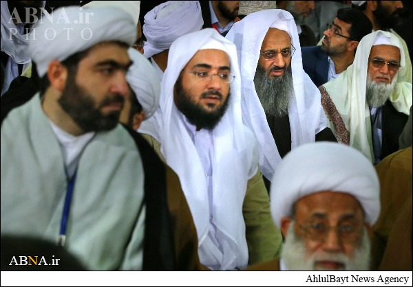 Three Iranian Sunni Shaykhs and students.