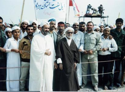 "Banner read: ""The Sunnis of Hormozgan"""